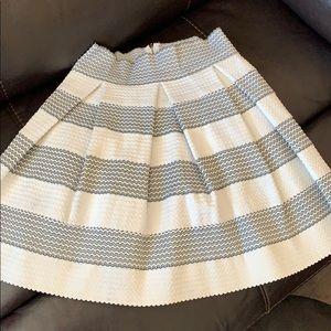 A black and white skater skirt.